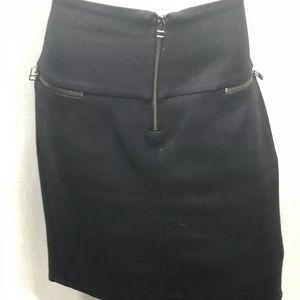 Zara classic black size Large short skirt